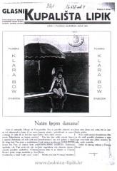 Slika stari oglasnik kupališta Lipik