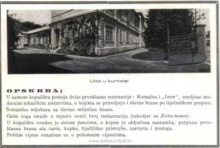 Slika stari članak ulaz u Kurhotel