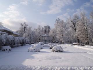 Slika perivoj pod snijegom