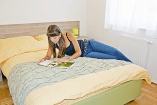 Slika smještaj spavaća soba s velikim krevetom