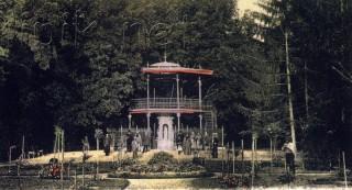 Slika stara razglednica perivoj Lipik